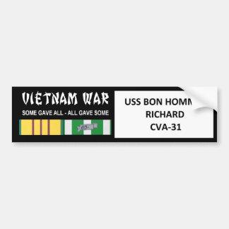 USS BON HOMME RICHARD VIETNAM WAR VETERAN BUMPER STICKER