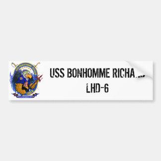 USS Bonhomme Richard LHD-6 living crest Bumper Sticker