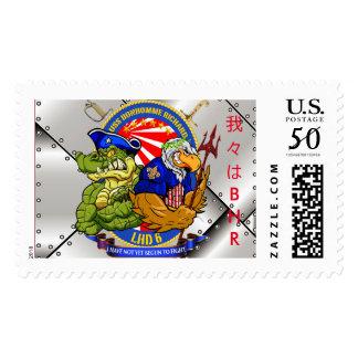 USS Bonhomme Richard LHD-6 living crest stamp