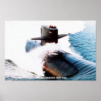USS BREMERTON POSTER