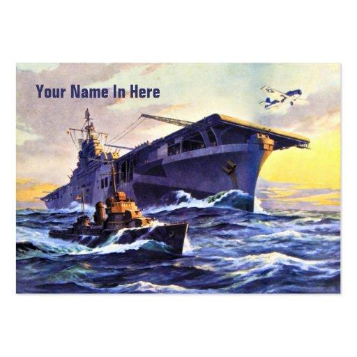 USS Bunker Hill Vintage Business Card Templates
