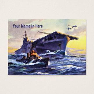 USS Bunker Hill Vintage Business Card