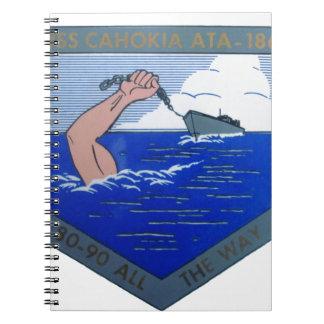 USS Cahokia ATA-186 Spiral Notebook