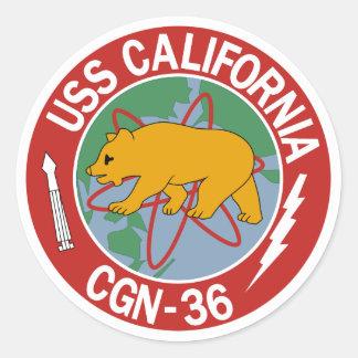 USS California (CGN 36) Pegatina Redonda
