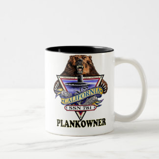 USS California SSN 781 Plankowner Two-Tone Coffee Mug