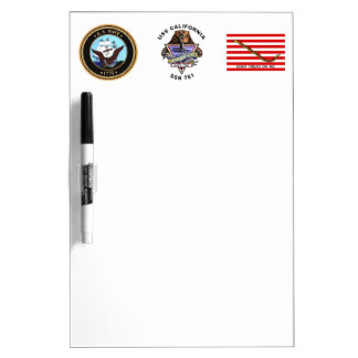 USS California SSN 781 Ship's Crest Dry-Erase Whiteboards