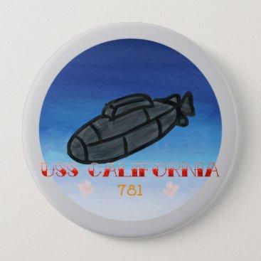 USS california submarine navy Button
