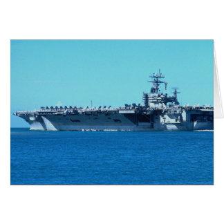 "USS Carl Vinson"", nuclear powered carrier CV-70 Greeting Card"