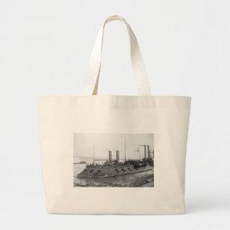 USS Carondelet Large Tote Bag
