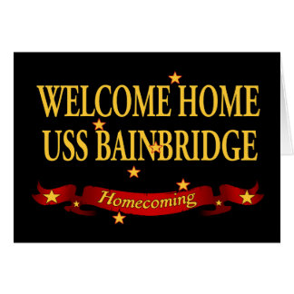 USS casero agradable Bainbridge Tarjeta De Felicitación