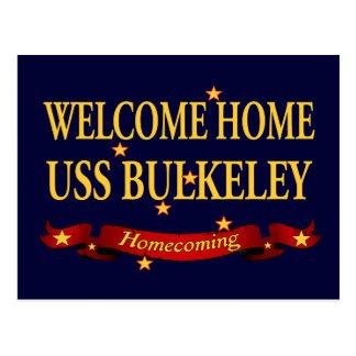 USS casero agradable Bulkeley Tarjeta Postal