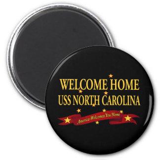 USS casero agradable Carolina del Norte Imán Para Frigorífico