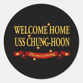 USS casero agradable Chungkin-Hoon Pegatina Redonda