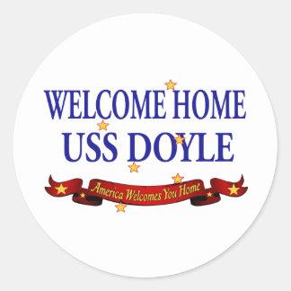 USS casero agradable Doyle Pegatina Redonda