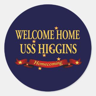 USS casero agradable Higgins Pegatina Redonda