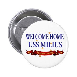 USS casero agradable Milius Pin Redondo De 2 Pulgadas
