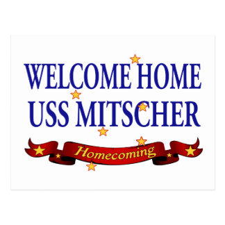 USS casero agradable Mitscher Tarjeta Postal
