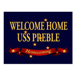 USS casero agradable Preble Tarjeta Postal