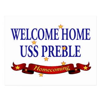 USS casero agradable Preble Tarjetas Postales