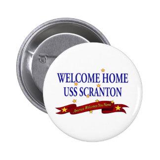 USS casero agradable Scranton Pin Redondo De 2 Pulgadas