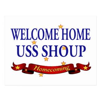 USS casero agradable Shoup Postales