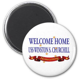 USS casero agradable Winston S. Churchill Imán Redondo 5 Cm