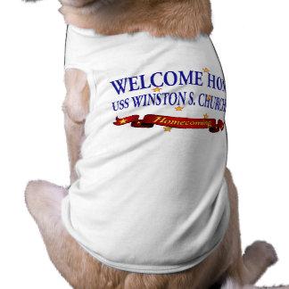 USS casero agradable Winston S. Churchill Playera Sin Mangas Para Perro