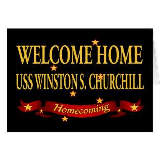 USS casero agradable Winston S. Churchill Tarjeta De Felicitación