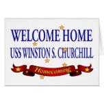 USS casero agradable Winston S. Churchill Tarjetón