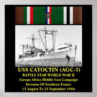 USS CATOCTIN (AGC-5) POSTER