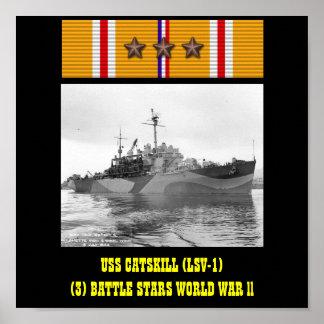 USS CATSKILL LSV-1 POSTER