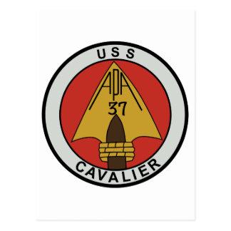 USS CAVALIER  APA 37 ATTACK TRANSPORT SHIP MILITAR POSTCARD