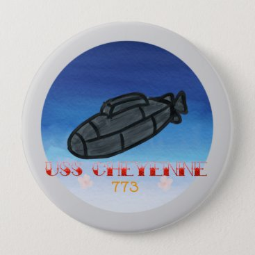 USS Cheyenne submarine navy pin
