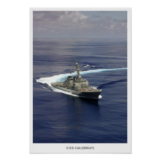 USS Cole (DDG 67) Poster