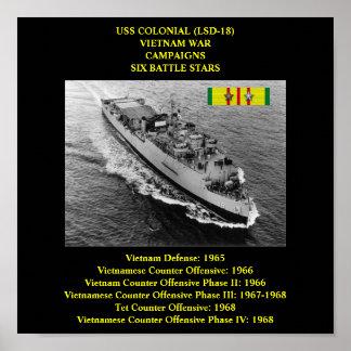 USS COLONIAL (LSD-18) POSTER