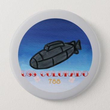 USS Colorado submarine navy Button