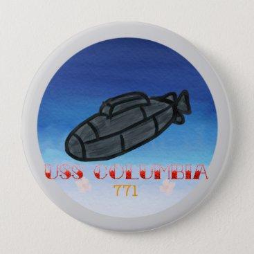 USS Columbia submarine navy pin