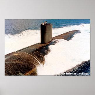 USS COLUMBUS POSTER