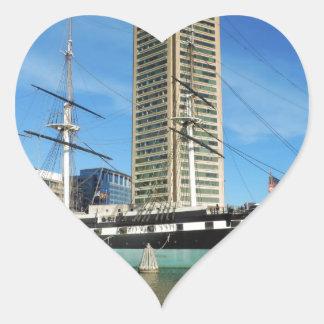 USS Constellation Baltimore Heart Sticker