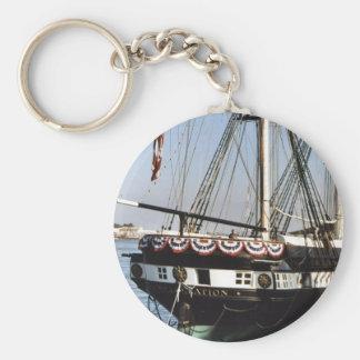 USS Constellation Basic Round Button Keychain