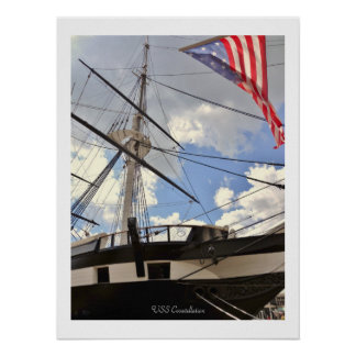 USS Constellation Tall Ship Baltimore Harbor Photo Poster
