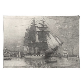 USS Constitution 1911 Cloth Placemat