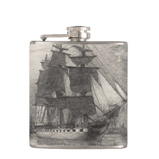USS Constitution 1911 Hip Flask