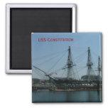 USS Constitution 2 Inch Square Magnet