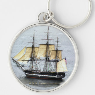 USS Constitution at Full Mask Keychain