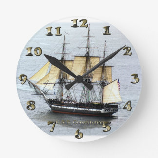 USS Constitution at Full Mask Round Clock