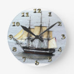 USS Constitution at Full Mask Wall Clocks