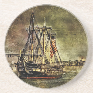 USS Constitution Drink Coaster