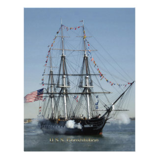 USS Constitution Firing Cannons Flyer