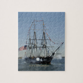 USS Constitution Firing Cannons Jigsaw Puzzle